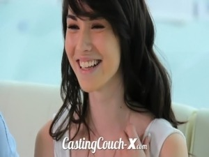 Casting Couch-X High school sweethearts start in porn free