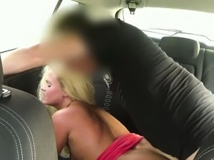 Big butt customer tricked by fake driver then got fucked