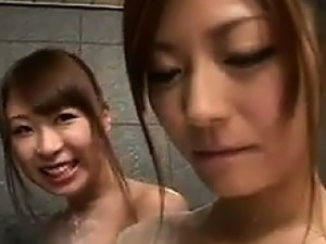 Japanese Lesbians In The Shower