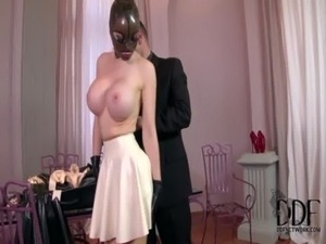 Kinky Submissive Latex Lucy Sucks & Fucks Two Huge Cocks free
