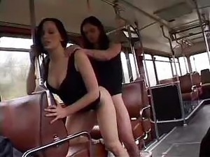 Two French Girls Fucked In A Bus