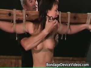 Bondage sex video with cute chick tied part5
