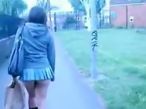 Getting Multiple Upskirts Outdoors Secretly