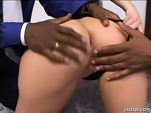 Sexy black dude fingering this blondes part6