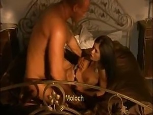 Valentina Canali gets a hot Turkish stud to fuck on the bed