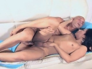Sexy shemale babe Violetta getting fucked anally