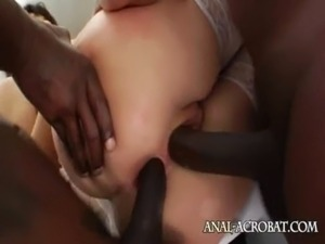 shocking interracial anal gangbang free