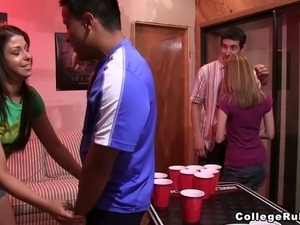 This amateur video is all about hot college party with