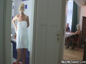 The girlfriend fucks his whole family free