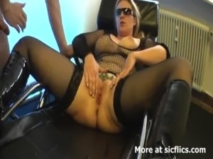Blond milf fist fucked in her insatiable vagina free