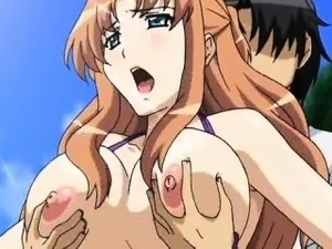 Anime babe gets rammed on beach