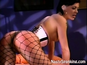 Smoking hot lesbo spanking