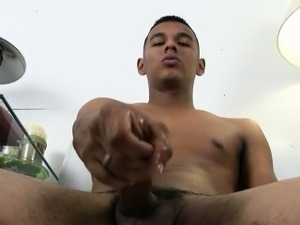 Big dick Latino jerking off