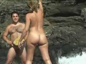 Nudist beach girl - hairy nudist free