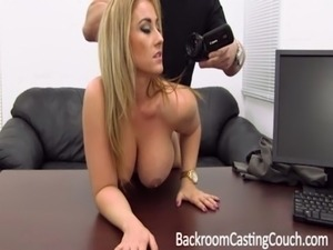 Big Tit MILF Ass Fucked on Casting Couch free