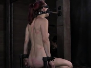 Tied up bondage bdsm sub pussy toyed