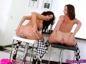 Hot milk enema girls in slow motion