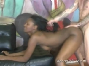 Interracial extreme doggystyle fucking of unfortunate black teen free