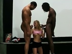 Blonde Student Banged By A Big Black Guy