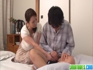 Mature Yuuko enjoys young cock free