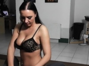 Beautiful czech chick does lapdance