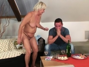 Old mother inlaw lures her boy