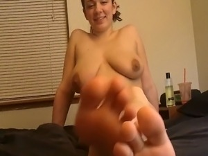 Ashley shows her feet