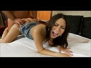 Young amateur cutie is totally surprised by the size of guy's dick