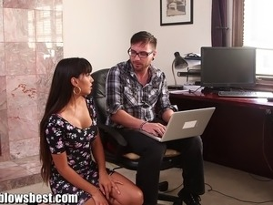 Busty mature milf is fucking the young computer wiz