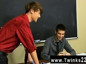 Amazing gay scene Elijah White and Max Morgan are stuck grading their