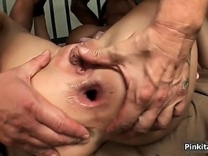 Gorgeous inmate gets horny when two part1