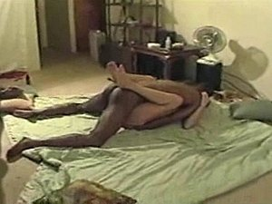 She gets dicked down hard for 25 minutes while her husband films it