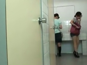 Groped and fucked on school toilet