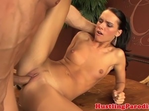 Jennifer Dark jizzed on by the dawg after her hunts her bounty
