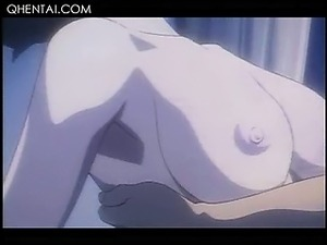 Hentai beauty in glasses gets pussy nailed to strong orgasm