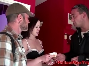 Paid real dutch whore sucking and riding amateur client cock