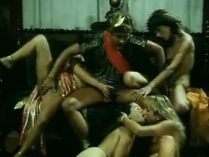 Natural hoes fuck in German vintage group sex