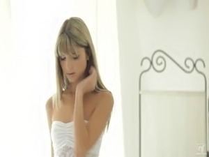 Nubile Films - Tight little pussy stuffed full of cock free