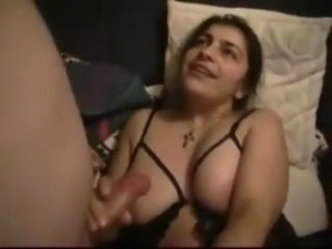Curvy Arabic Housewife pleases her man