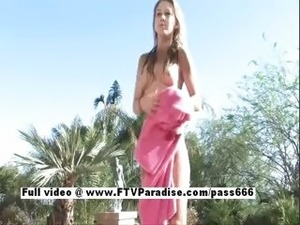 Alanna stunning stunning blonde girl naked in the pool