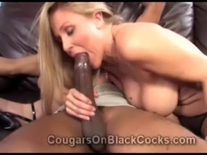 Extremely gorgeous mature blonde whore Julia Ann gets fucked by big black man...