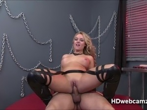 Funny faces of Alexis while riding cock in a reality webshow where you decide...