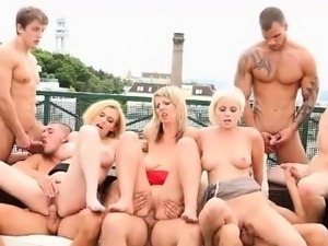 Bisexual hoes cummed on