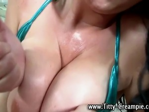 Busty pov slut has her big tits fucked ending with cumshot
