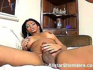 Horny transsexual Pamela hooks up with her macho buddy and