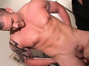 Muscled straight butt fingered