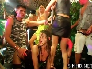 Erotic and rowdy group fucking pleasures
