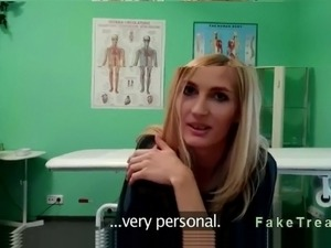 Small tittied blonde amateur wants advice from her doctor about breasts...