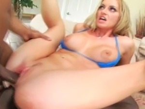 Tall MILF from Oregon does anal and DP with 2 black monster cocks. She...