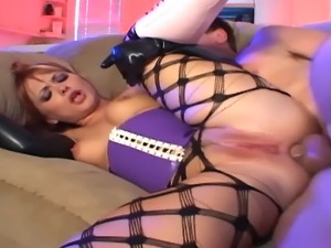 Hardcore anal sex and atm in fencenet pantyhose boots a corset and gloves